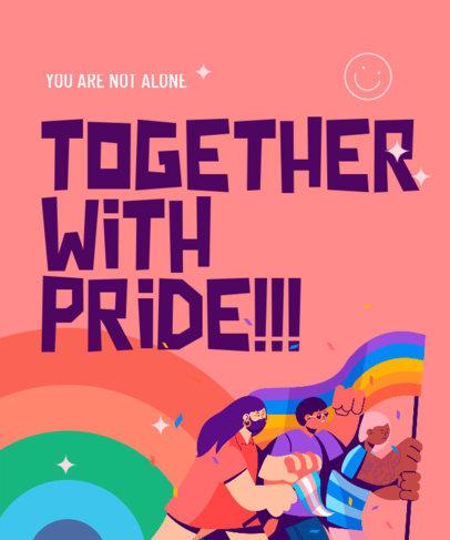 T-Shirt Design Creator Featuring a LGBTQ-Supportive Text 3592i
