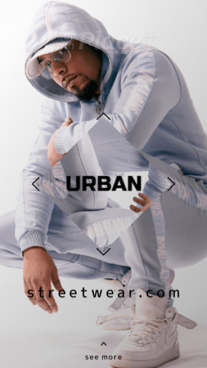 Instagram Story Video Template for a Streetwear Brand Ad 1358a 3127-el1