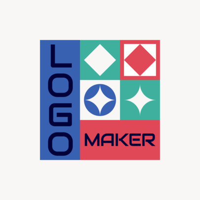 Logo Generator Featuring a Colorful Layout with a Tile Pattern 4260e