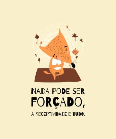 Illustrated T-Shirt Design Maker Featuring a Fox and a Portuguese Text 3797e-el1