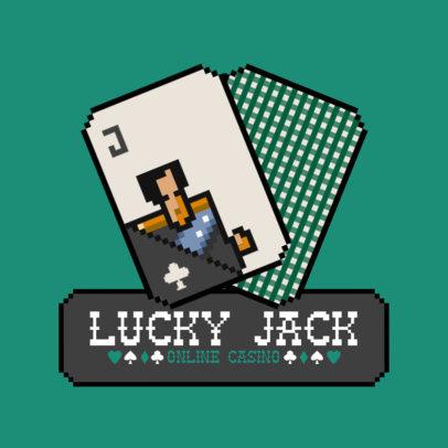 Virtual Casino Logo Generator Featuring a Jack Card Illustration 3793c-el1