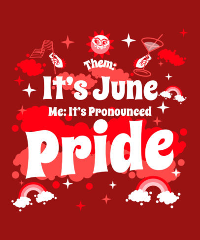 T-Shirt Design Template to Celebrate Pride Month 3594f
