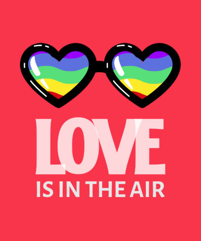 LGBTQ T-Shirt Design Creator with a Graphic of Heart-Shaped Glasses 3591e