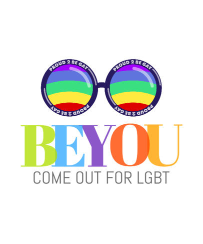 Encouraging LGBTQ T-Shirt Design Generator with a Colorful Graphic 3591b