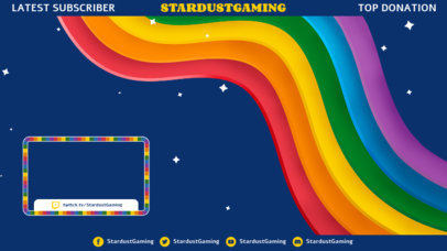 OBS Stream Overlay Generator for Gamers Featuring Rainbow Colors 3589b