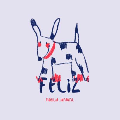 Kids' Furniture Logo Creator Featuring a Cute Illustration of a Dog 4253i