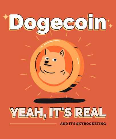 Fun T-Shirt Design Generator with a Dogecoin-Themed Graphic 3584g