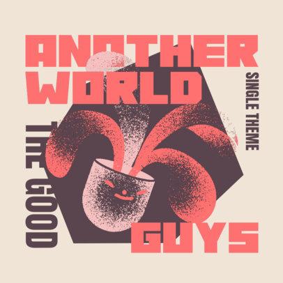 Pop Band Album Cover Creator Featuring a Disruptive Design 4257C