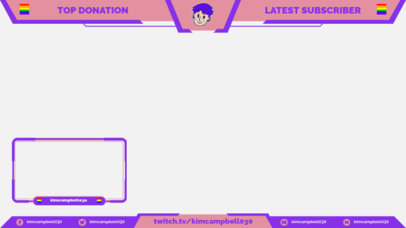 Twitch Overlay Creator with LGBTQ Pride Flags 3588a