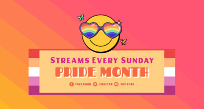 Twitch Banner Template With an LGBTQ Pride Month Theme 3590f