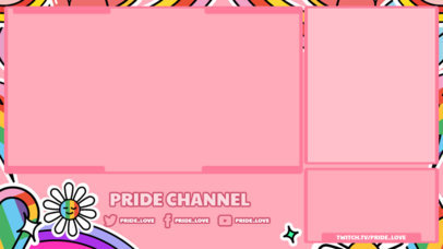 Sweet Twitch Overlay Creator for an LGBTQ-Related Channel 3586b