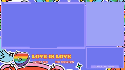Twitch Overlay Creator with a Rainbow-Colored Heart Graphic for Pride Month 3586h