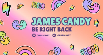 LGBTQ Pride-Themed Twitch Banner Maker with Fun Sticker Icons 3587e