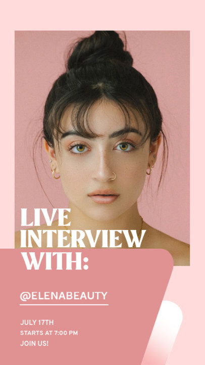 Instagram Story Design Template to Announce a Live Interview 3824-el1