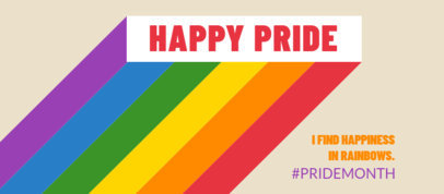 Facebook Cover Design Maker with Rainbow Graphics to Celebrate Pride Month 3608