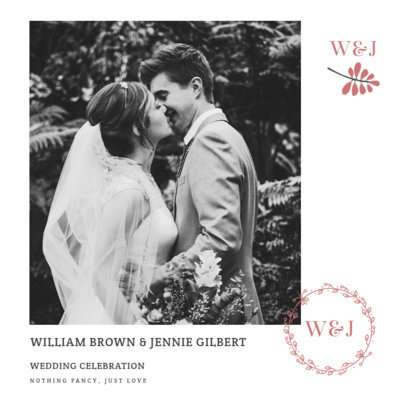 Elegant Instagram Post Template for a Wedding Celebration 3638d-el1
