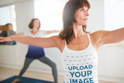 Camisole Tank Top Mockup of a Woman Focusing on Her Yoga Class m4416-r-el2