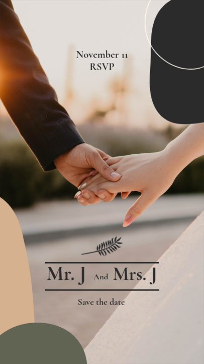 Instagram Story Design Maker Featuring a Save-the-Date Announcement 3632d-el1