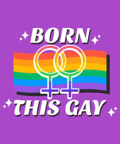 Pride T-Shirt Design Creator Celebrating Love Between Women 3836B-el1