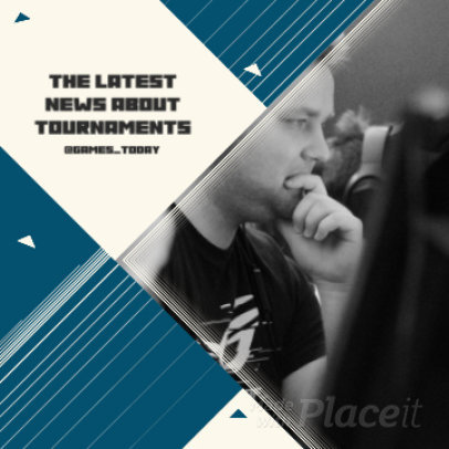 Instagram Video Template for an eSports Tournament Promo 881a 3171