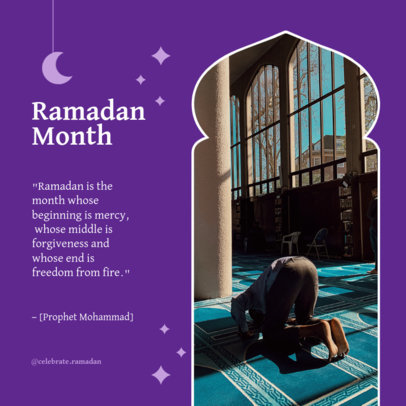 Instagram Post Maker for Ramadan Month Featuring Quotes 3879e-el1
