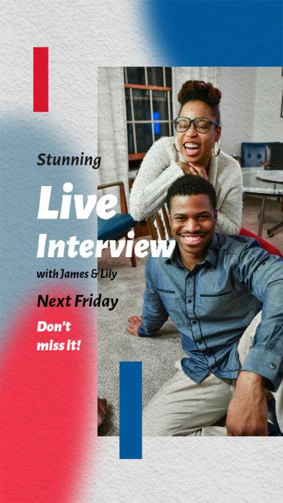 Cool Instagram Story Design Generator for Live Interviews  3828b-el1