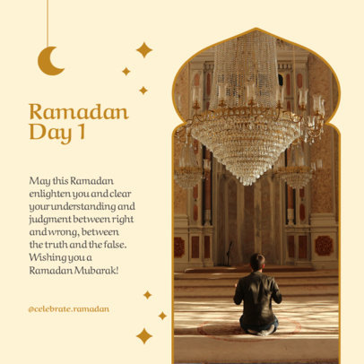 Instagram Post Maker for Ramadan Featuring Quotes and Crescent Moon Graphics 3879b-el1