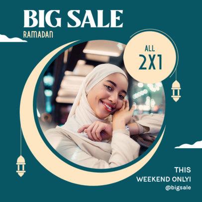 Instagram Post Design Maker for a Special Sale Featuring a Ramadan Theme 3881d-el1