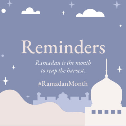 Instagram Post Template with a Ramadan Reminder 3612e