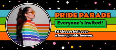 Facebook Cover Generator for an LGBTQ Pride Parade 3607g
