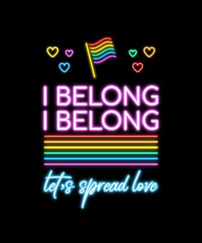LGBTQ T-Shirt Design Maker Featuring Colorful Neon Graphics 3838-el1