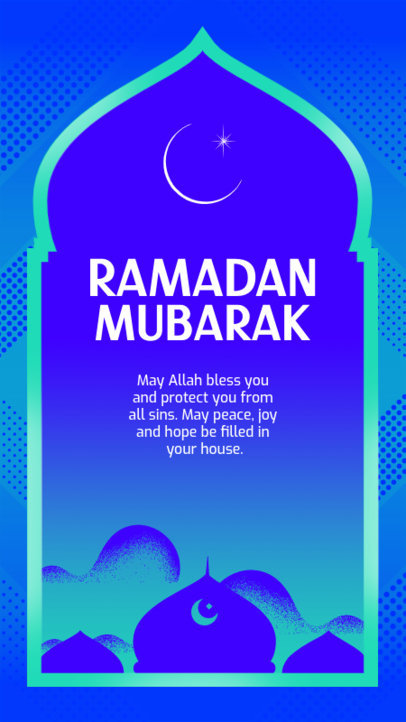 Instagram Story Design Template Featuring a Ramadan Quote 3613b