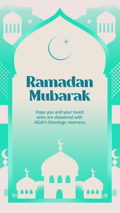 Ramadan-Themed Instagram Story Generator Featuring a Loving Quote 3613j