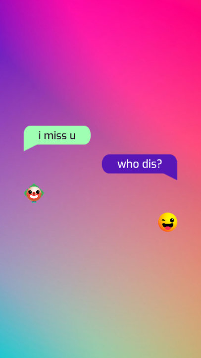 Instagram Story Maker Featuring a Colorful Background and Text Messages 3605a