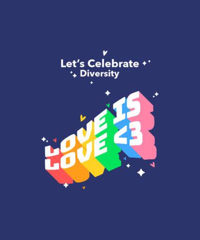 LGBTQ T-Shirt Design Maker Featuring Colorful Bold Fonts 3840-el1