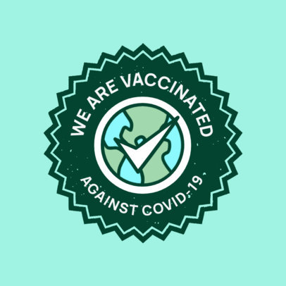 T-Shirt Design Template with a Vaccinated Badge Graphic 4281A