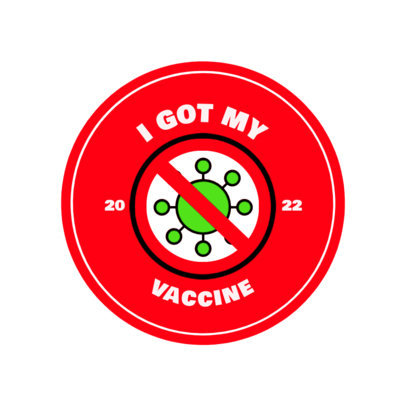 T-Shirt Design Creator with a Vaccination Campaign Badge 4281C