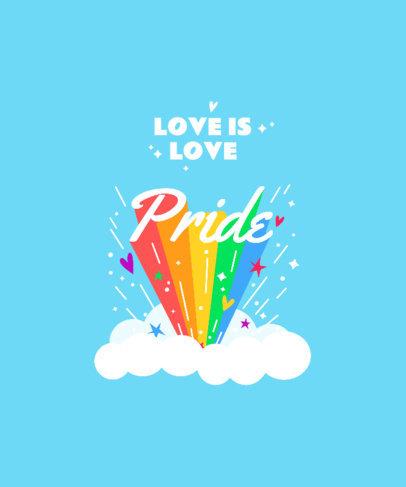 T-Shirt Design Generator for LGBTQ Pride Month Featuring Colorful Graphics 3840e-el1
