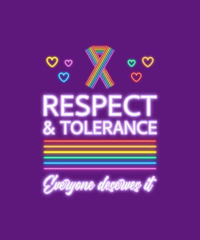 T-Shirt Design Generator for LGBTQ Pride Month Featuring Neon Fonts 3838c-el1