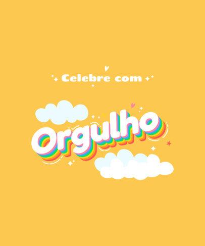 LGBTQ-Themed T-Shirt Design Generator Featuring Colorful Lettering Designs 3840b-el1