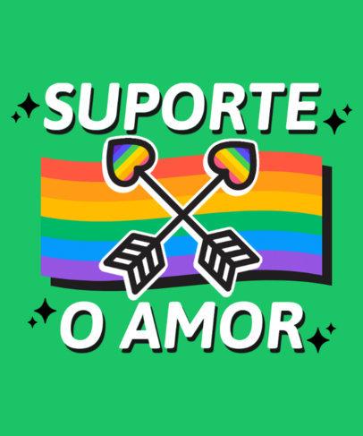 Supportive T-Shirt Design Creator for LGBTQ Pride Month 3836D-el1