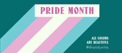 Pride Month-Themed Facebook Cover Maker the Transgender Flag Colors 3608g