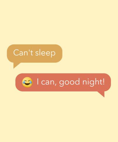 Funny T-Shirt Design Generator Featuring a Text Conversation 3603g