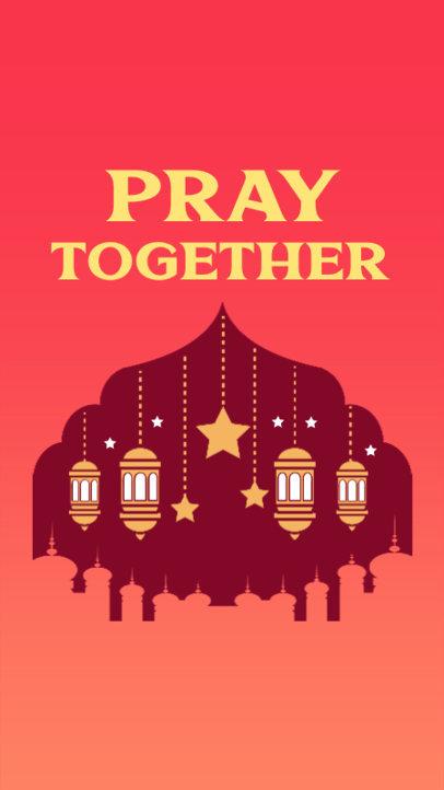 Instagram Story Generator With a Ramadan Theme and Lantern Graphics 3614c