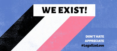 Facebook Cover Design Maker Featuring a Compelling Message for Pride Month 3608b