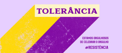 Pride Month-Themed Facebook Cover Design Template Featuring a Text in Portuguese 3608f