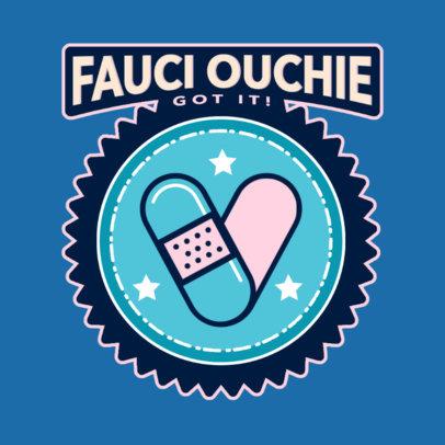 T-Shirt Design Creator Featuring a COVID Vaccine Sticker Graphic 4280d