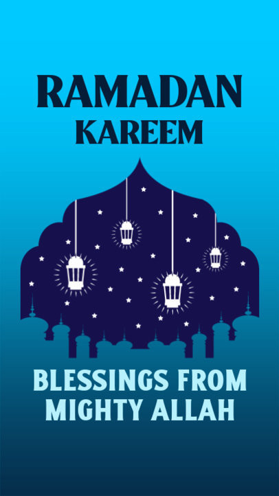 Ramadan-Themed Instagram Story Template Featuring Lantern Graphic and Quotes 3614d
