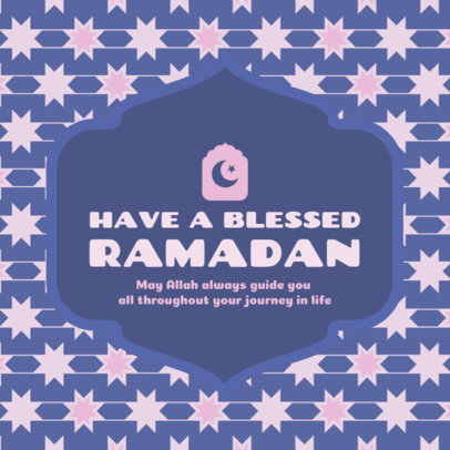 Instagram Post Template for Ramadan with a Star Pattern 3611b