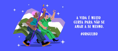 Facebook Cover Design Maker with an LGBT Quote in Portuguese 3610d